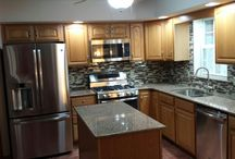 Kitchen Renovation Photos, submitted by customer in Mountain Top / Kitchen countertops done in Silestone, Sienna Ridge