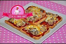 pizza, pide, lahmaun çeşitleri
