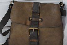 Tasker bags leather Oilskin canvas