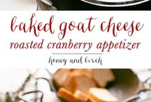 Baked goat cheese and roasted cranberries appetizer