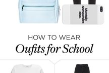 Oufits for School / If you want to find some great oufits for school everyday, come and see....