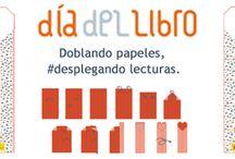 """Doblando papeles, #desplegando lecturas / Conmemora el Día del Libro, el próximo día 23 de abril, participando con Leer.es en la Campaña """"Doblando papeles, desplegando lecturas"""" http://leer.es/doblando-papeles-desplegando-lecturas/"""