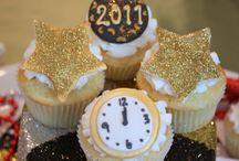 novoročné cupcake
