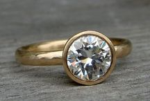 Handmade Moissanite Rings / Handmade rings created from moissanite and recycled metals; created by McFarland Designs.