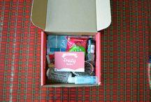 #FrostyVoxBox / complimentary products. #frostyvoxbox ##getadvanced #rimmel #sugarplum #mccormickgourmet #celestialtea #sweetside #lovemyecohairbrush #influenster / by Morganne Meyer