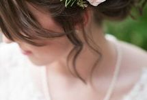 Vintage hair for brides