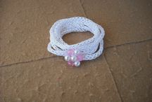 Knitted i -cord Bracelet/Necklace/Crochet Chains / by sabrina purvis