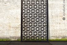 laser cut screens in geometric patterns