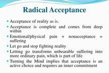 DBT 2 distress tolerance skills: Reality acceptance skills: Radical acceptance, turning the mind, willing hands, yli omapäisyyden