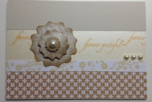 Neutral classic handmade cards / A selection of handmade cards using scraps, texture and pearls