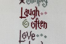 Cross stitch words and alphabets