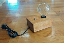 Wooden lamps!