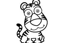 Dibujos de Animales / Dibujos de Animales en blanco y negro para colorear online o para descargar y imprimir. Busca tus animales favoritos y coloréalos con Dibujos.net. Aves, peces, animales de la Selva, Animales de la granja, el bosque, insectos... ¡Están todos!
