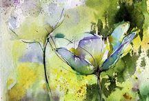 abstraktní akvarel mnoho inspirace