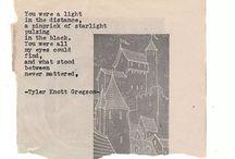 Tyler Knott Gregson / Poetry