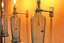 Vetro bottiglie lanterne