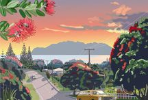 New Zealand Artists / Art works, original paintings and illustrations from New Zealand Artists.
