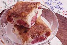 Old fashion rhubarb cake