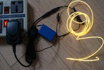 Fils lumineux électroluminescents / Découvrez les fils lumineux électroluminescents, de 1mm jusqu'à 5mm de diamètre et dans 8 couleurs.