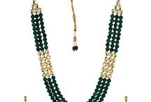 Bollywood Designer Kundan Wedding Party Traditional Jewelry Necklace Set