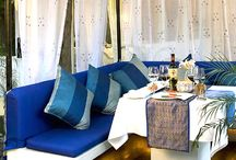 Sevilla - Mediterranean @ The Claridges, New Delhi / Named after Seville, the artistic and cultural capital of southern Spain, and inspired by the blue seas, azure skies and lucid landscape of the Mediterranean, Sevilla offers a dining experience that delights the senses.