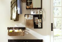 Foyer organization / Let's get out the door quick with an organized entry!
