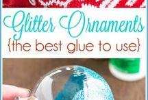 Ornamenti glitter