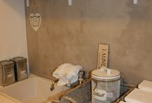 Daisys home / Laundry made off Pallets  Wall painted with Pure & original kalkmaling.
