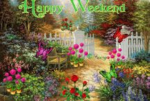 ✿.¸.´ Gif (Greetings)✿.¸.´ /   ✿.¸.´   Happy weekend and more