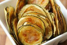 Chips de abobrinhas