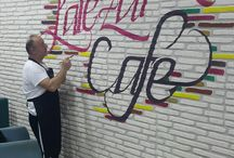 wall on calligraphy