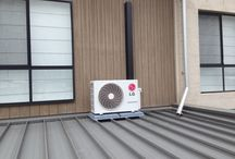 Split system airconditioning / Aircon heating and cooling