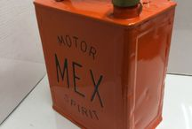 VINTAGE PETROL CANS / Visit our website to see our full range of automobilia. Stock changes regularly, so check back for new products: http://mattsautomobilia.co.uk