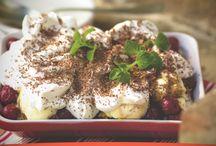 Receta de Tiramisú con cerezas y helado