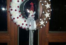 Karácsonyi ajtódísz saját