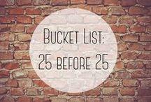 bucket list/ goals