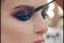 Make up / dark and colored make up ideas. with a touch of glitter.