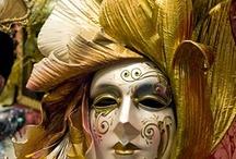 Venetian glass en Carnival Masks
