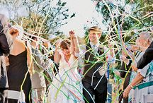 wedding exits / Fun, exciting + romantic wedding exit ideas. Sparklers, streamers, balloon popping, lavender throwing, lanterns