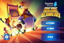 Rosetta Stone Arcade Academy / Arcade Academy teaches Spanish through a fast-paced series of games designed to build language proficiency through fun and engagement. / by Rosetta Stone