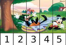 Předškolní činnosti - puzzle / puzzle