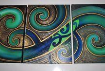 maori art for tiki bar