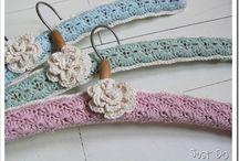 crochet. coathangers