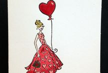 """Mes cartes """"Amour""""/ My cards """"Love"""""""