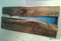 madera y mosaico