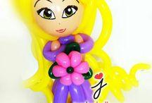 muñecas hechas de globos