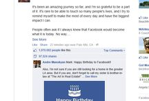 MARK ZUCKERBERG FACEBOOK 10TH BIRTHDAY / Watched this happen right before my eyes. Mark Zuckerberg posts on Facebook at midnight- in 22 minutes over 1 million likes and shares. A true rollercoaster of numbers rolling up and up and up. Crazy to watch...#facebook #markzuckerberg  #digitalmedia   Screen shot by Socially Your Virtual Assistant, Carla Email: Carla@sociallyyourvirtualassistant.com