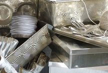 Antique molds and tins