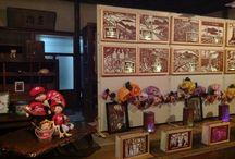 鞆の浦・西町の秋祭り 2014 / 7年に一度巡ってくる祭りの当番町 私も町家に切り絵を飾り参加させてもらいました