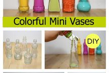 Colourful mini vases / Clear bottles